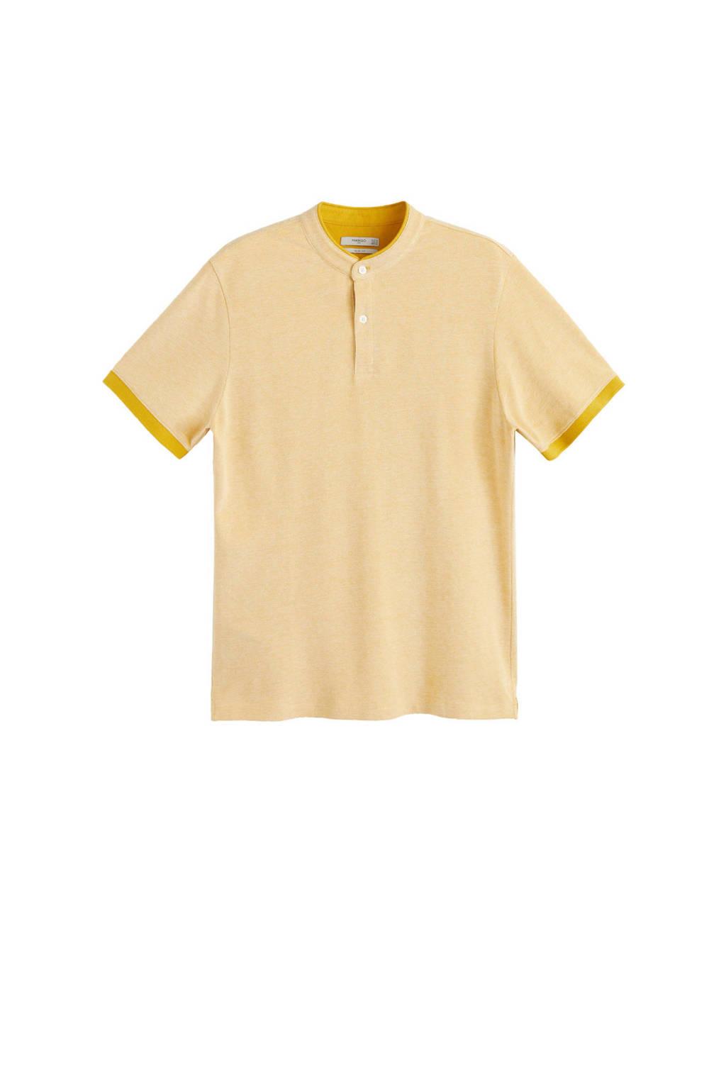 Mango Man T-shirt, middengeel