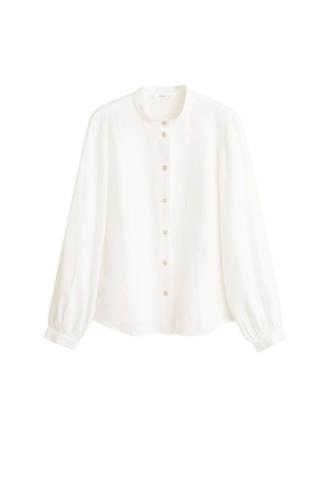 blouse met ronde hals