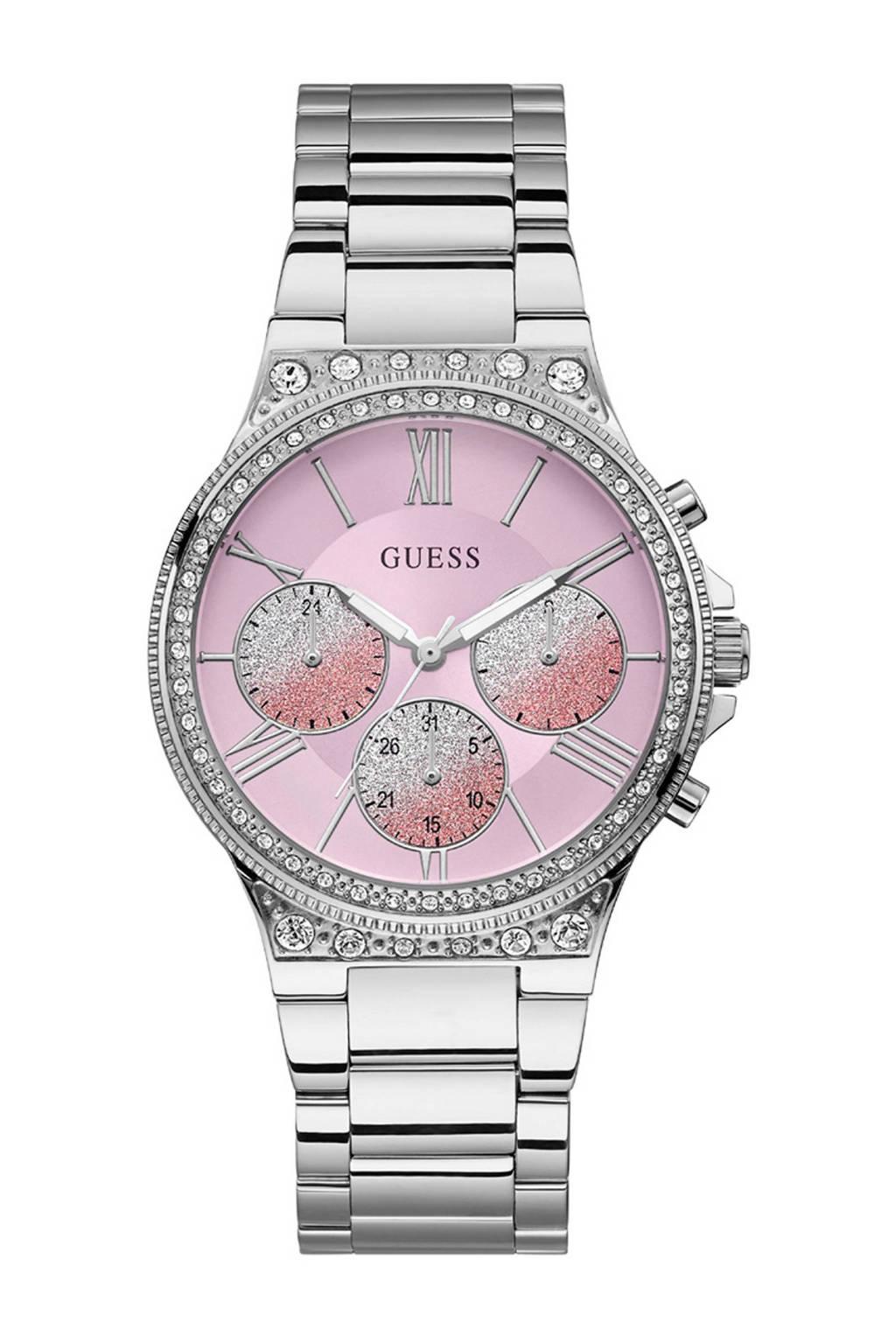 GUESS horloge W1232L1 zilver, Zilverkleurig