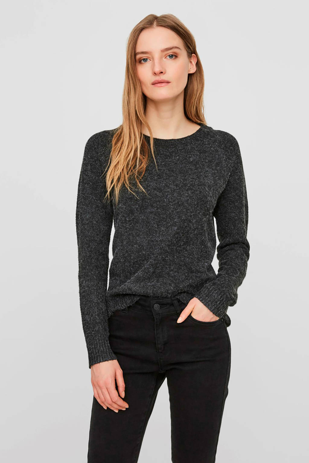 VERO MODA gemêleerde trui zwart, Zwart