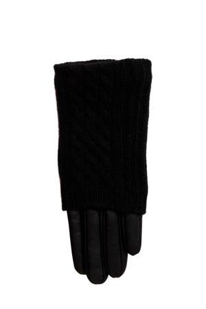 leren handschoen zwart