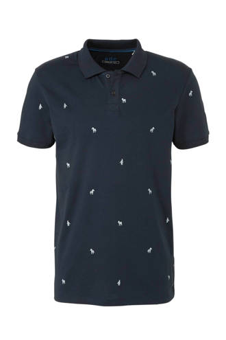edc Men Aop Polo met allover zebra print