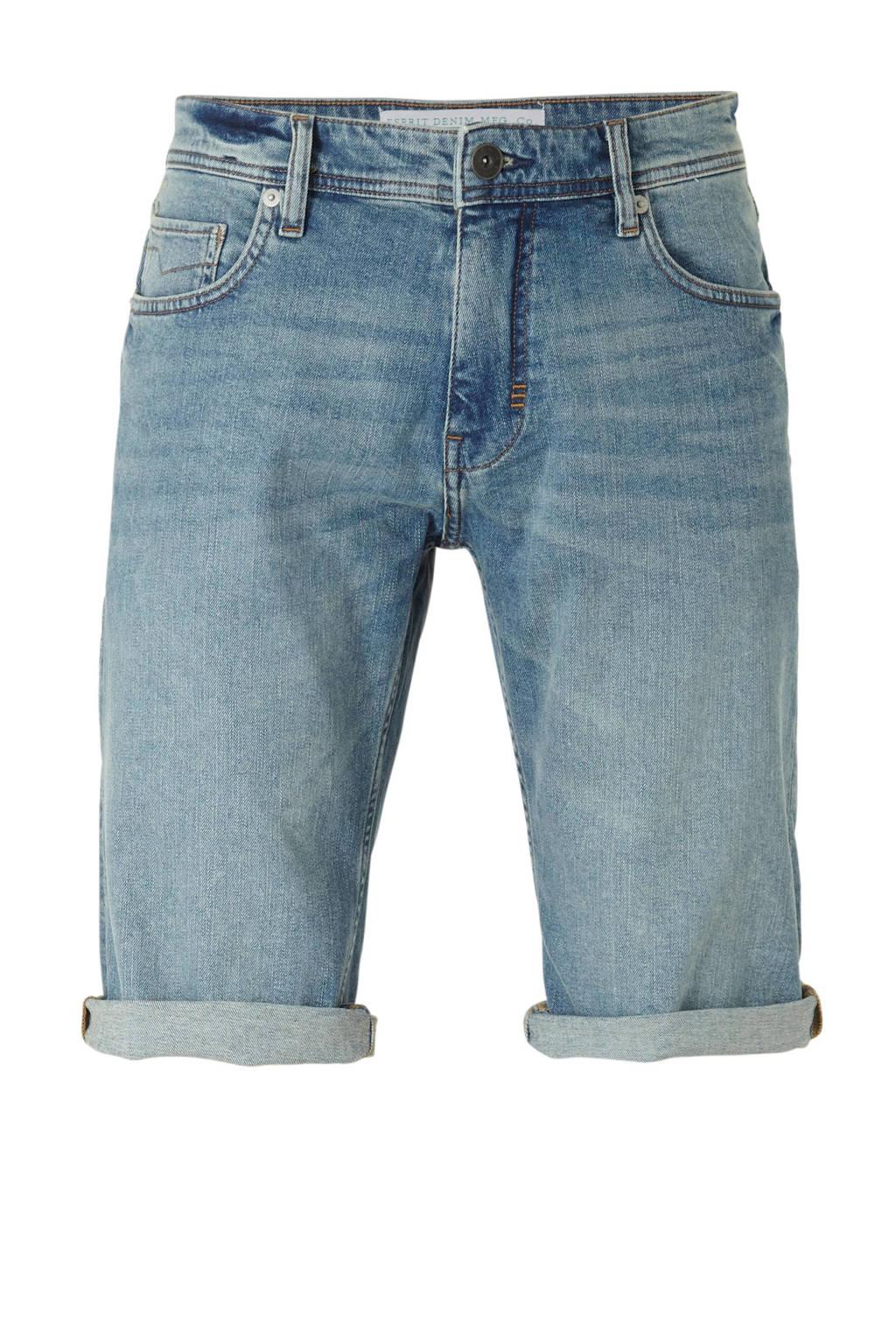 ESPRIT Men Casual regular fit jeans short, Blauw