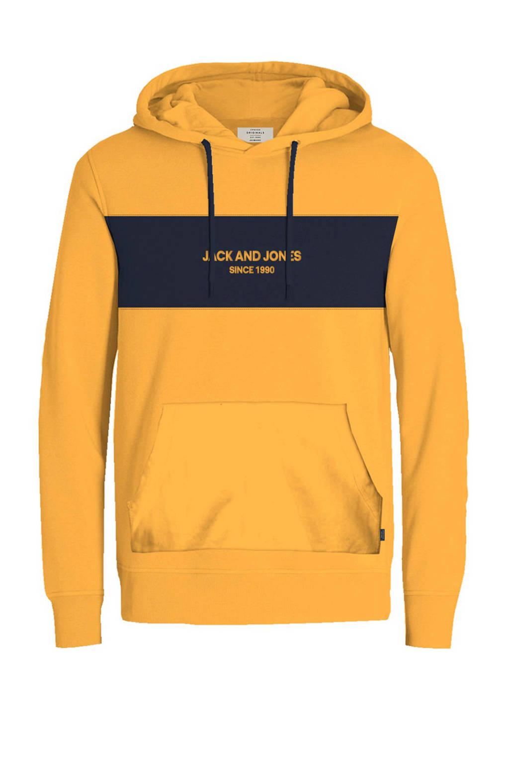 Jack & Jones Originals hoodie, Okergeel