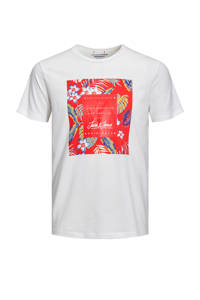 JACK & JONES ORIGINALS T-shirt met printopdruk, Wit