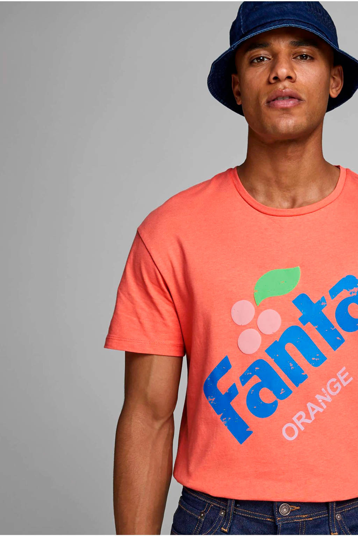 JACK & JONES ORIGINALS T-shirt met printopdruk oranje, Oranje
