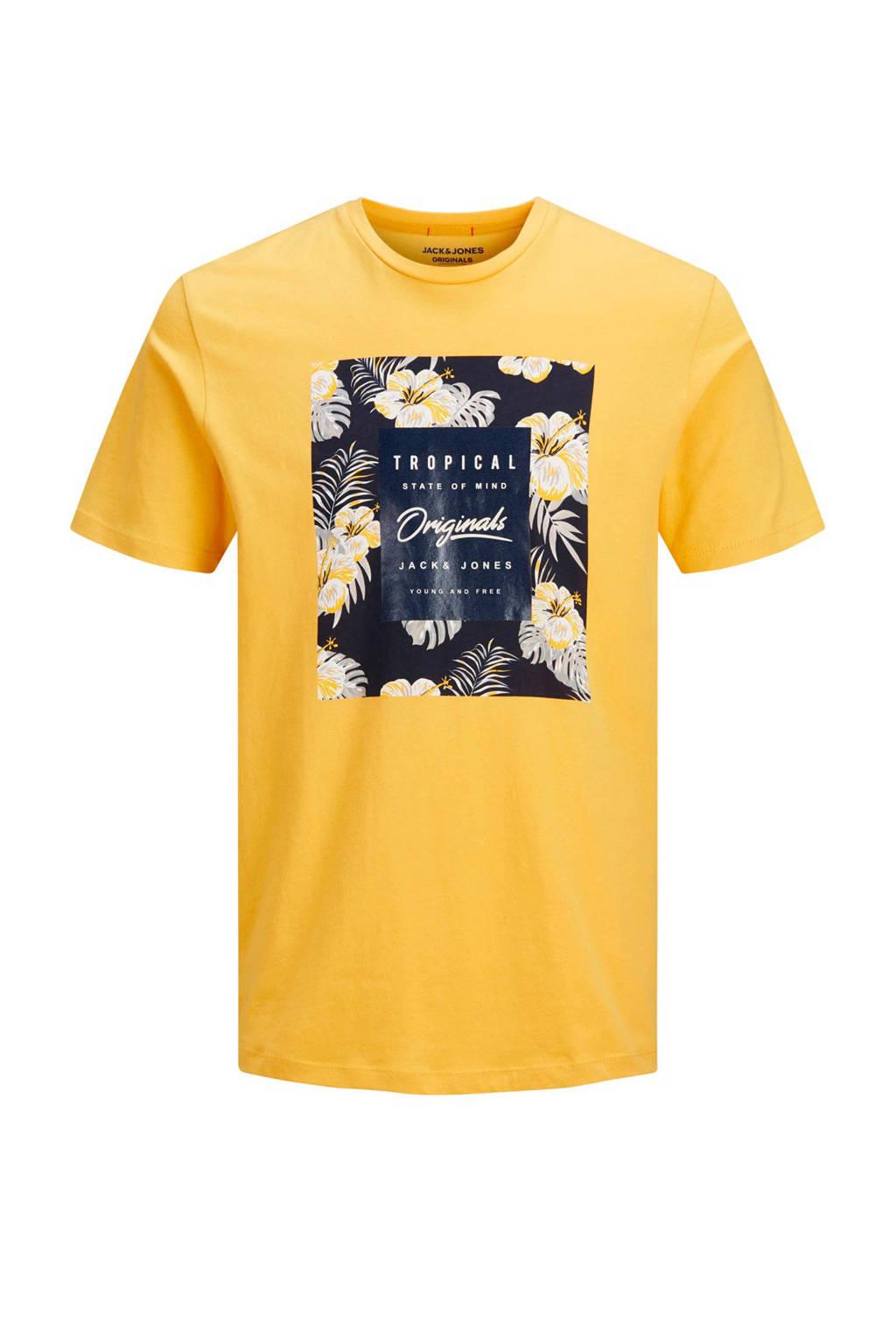 Jack & Jones Originals T-shirt met printopdruk, Geel