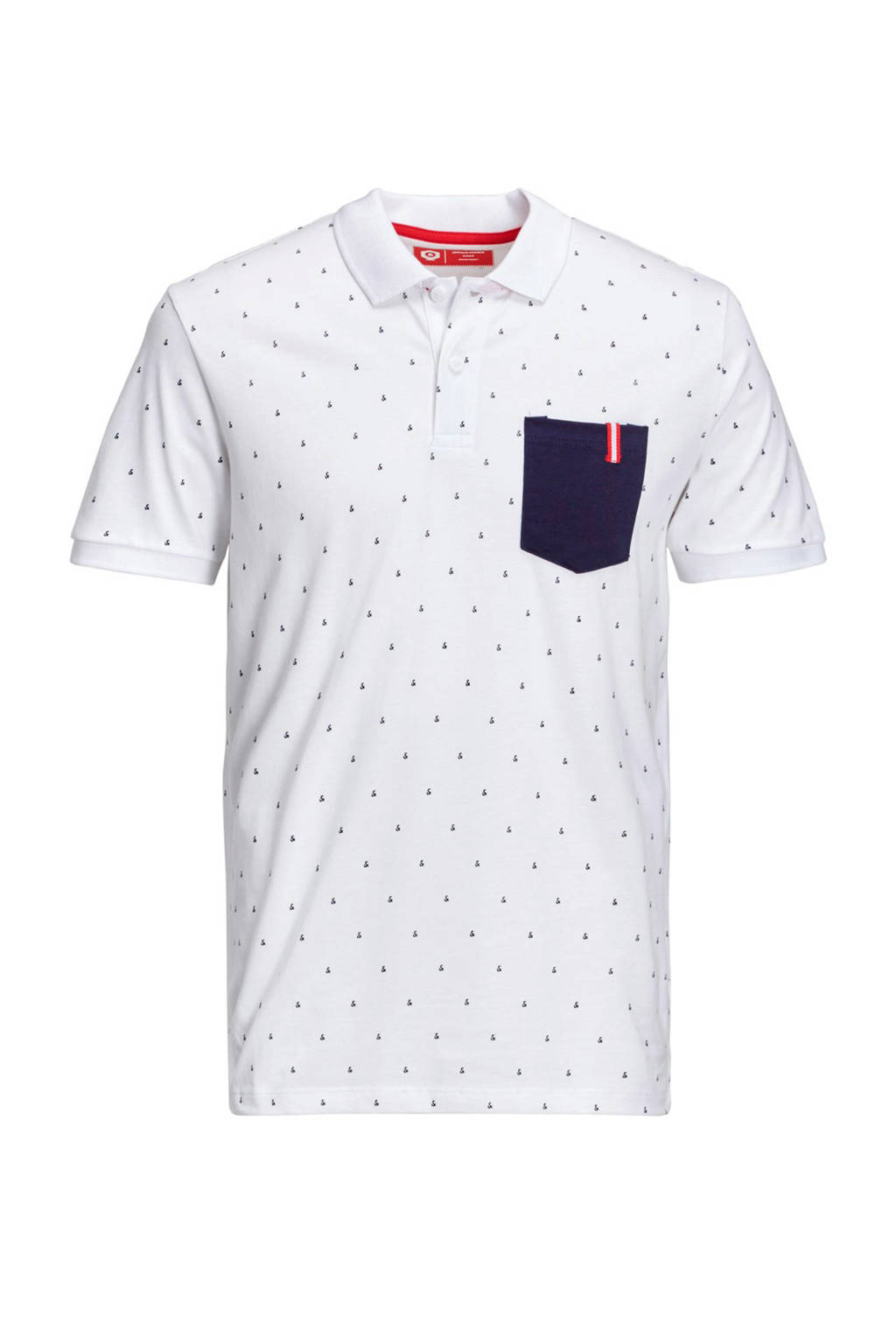Jack & Jones Core slim fit polo wit, Wit