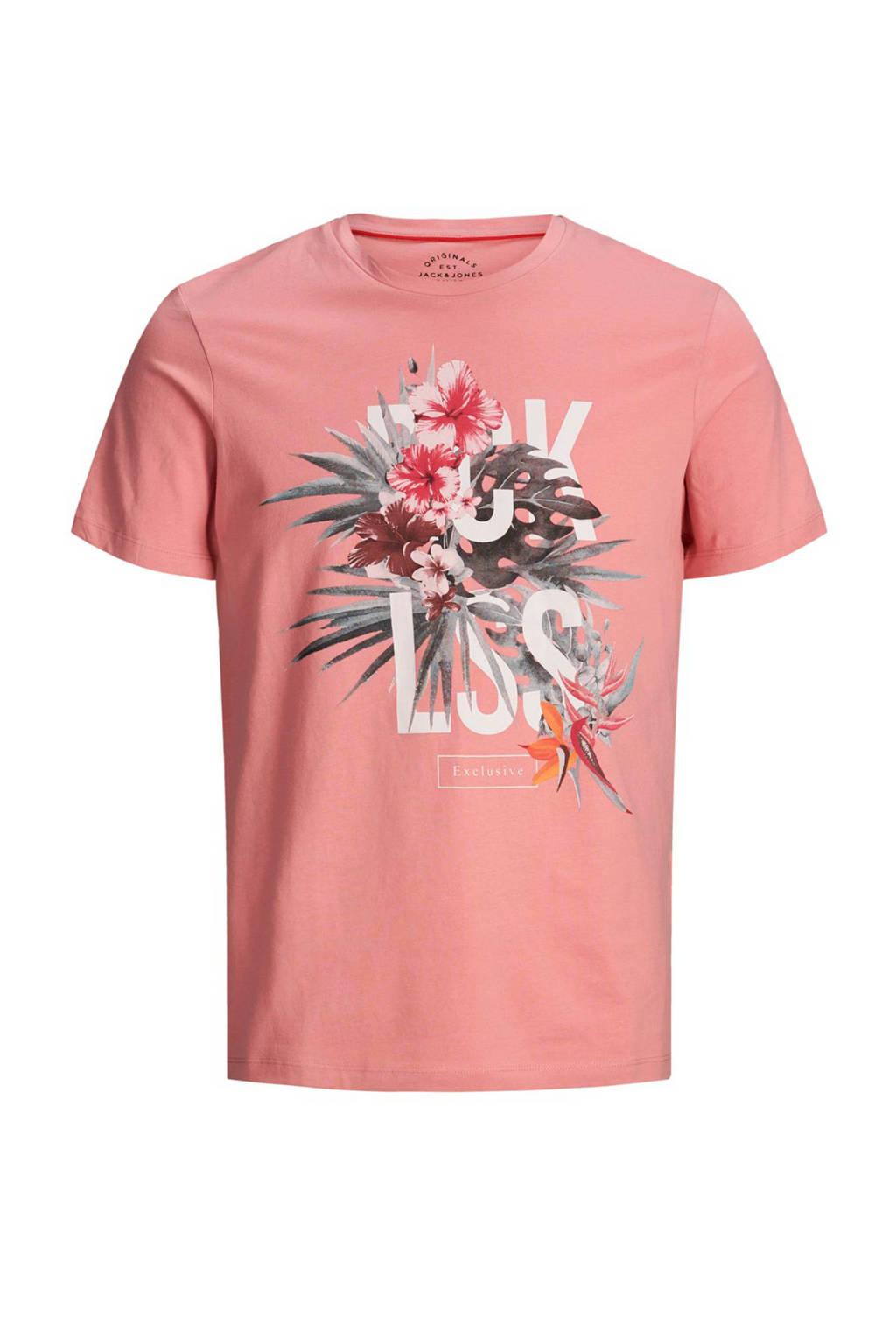 Jack & Jones Originals slim fit T-shirt, Roze
