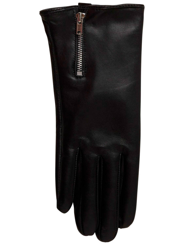 VERO MODA leren handschoenen zwart, Zwart