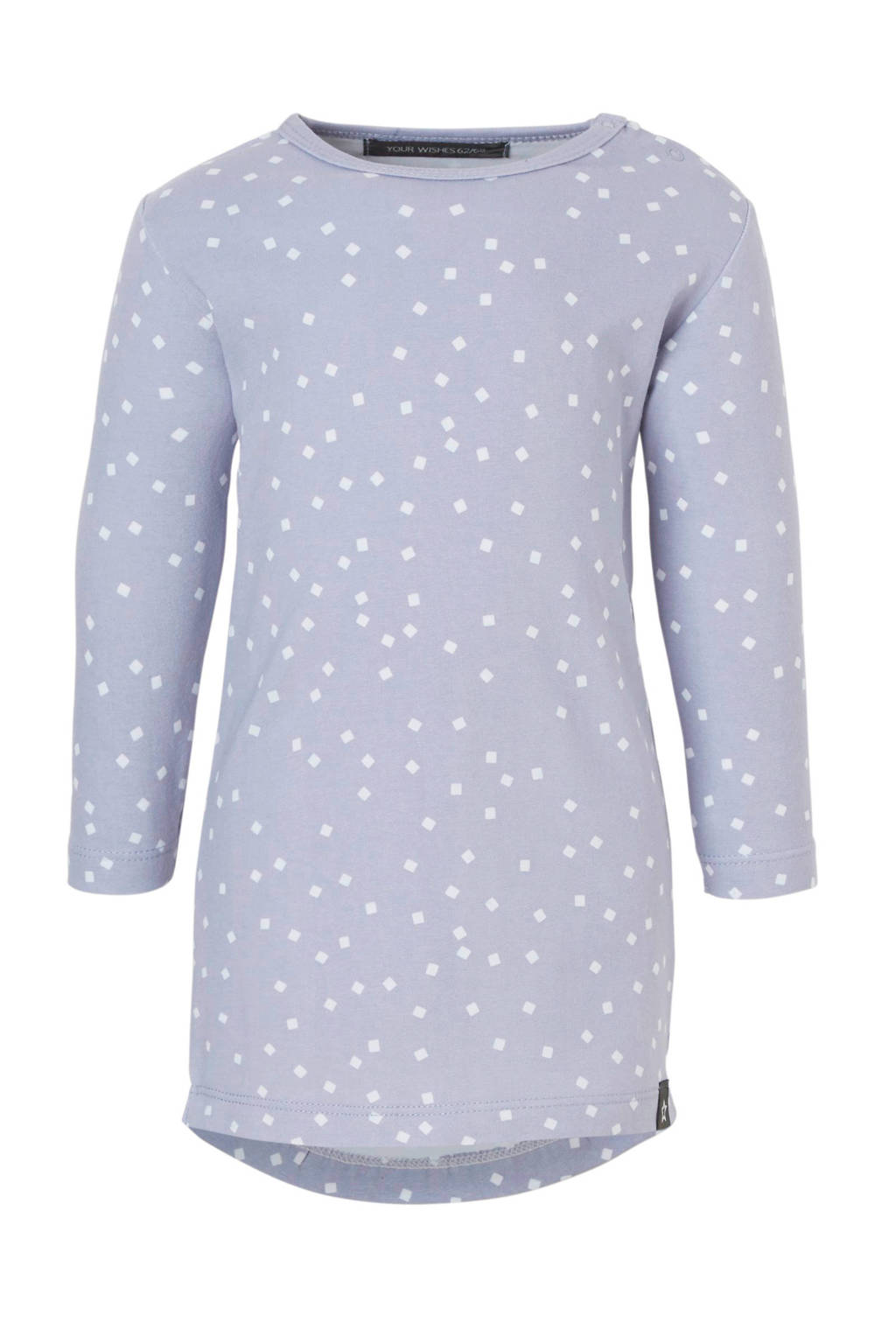 Your Wishes jurk met all over print lila, Lila/wit