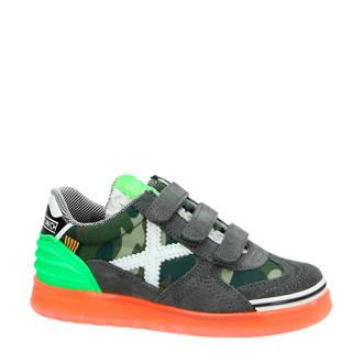 Velcro suède sneakers kaki