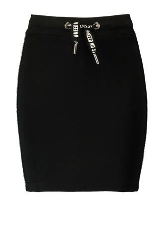 rok met zijstreep zwart