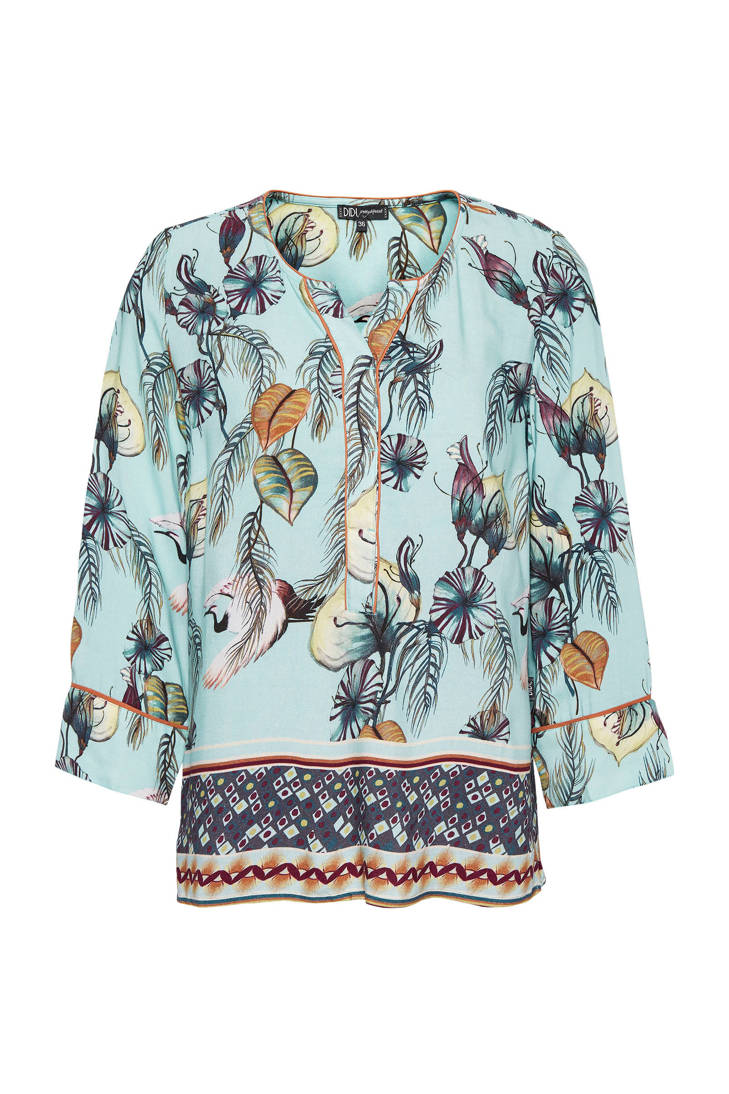 all met over print blouse Didi Japanse 4ftwSnq