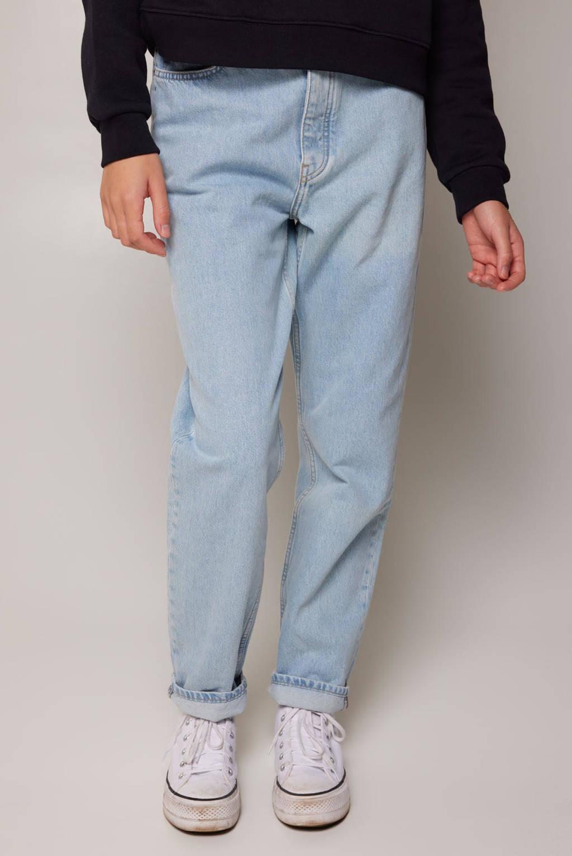 America Today tapered loose fit high waist jeans Jadan B, Blauw