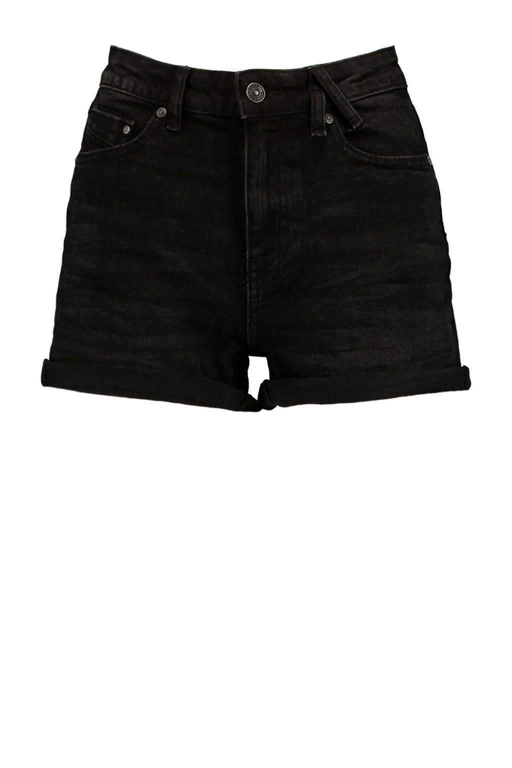 America Today high waist jeans short Lucy zwart, Zwart