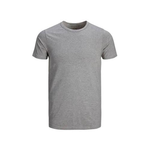 JACK & JONES T-shirt grijs melee