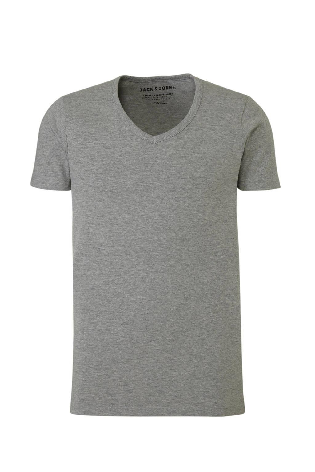 Jack & Jones T-shirt grijs melee, Grijs melee