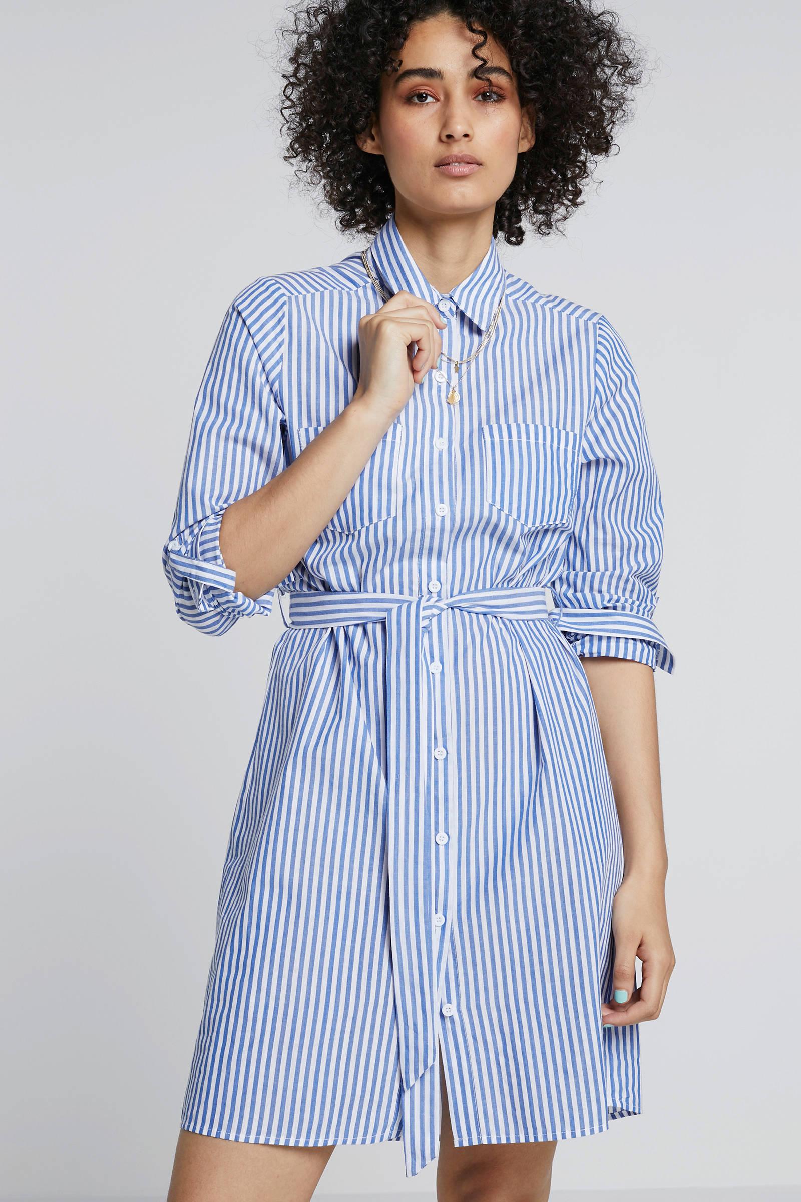 SisterS Point gestreepte blousejurk blauwwit | wehkamp