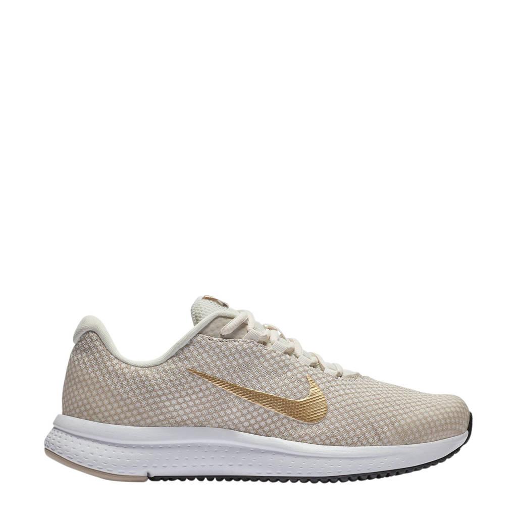 Nike Runallday sneakers beige/goud, Ecru/goud