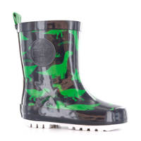 Shoesme   regenlaarzen met print, Groen/blauw