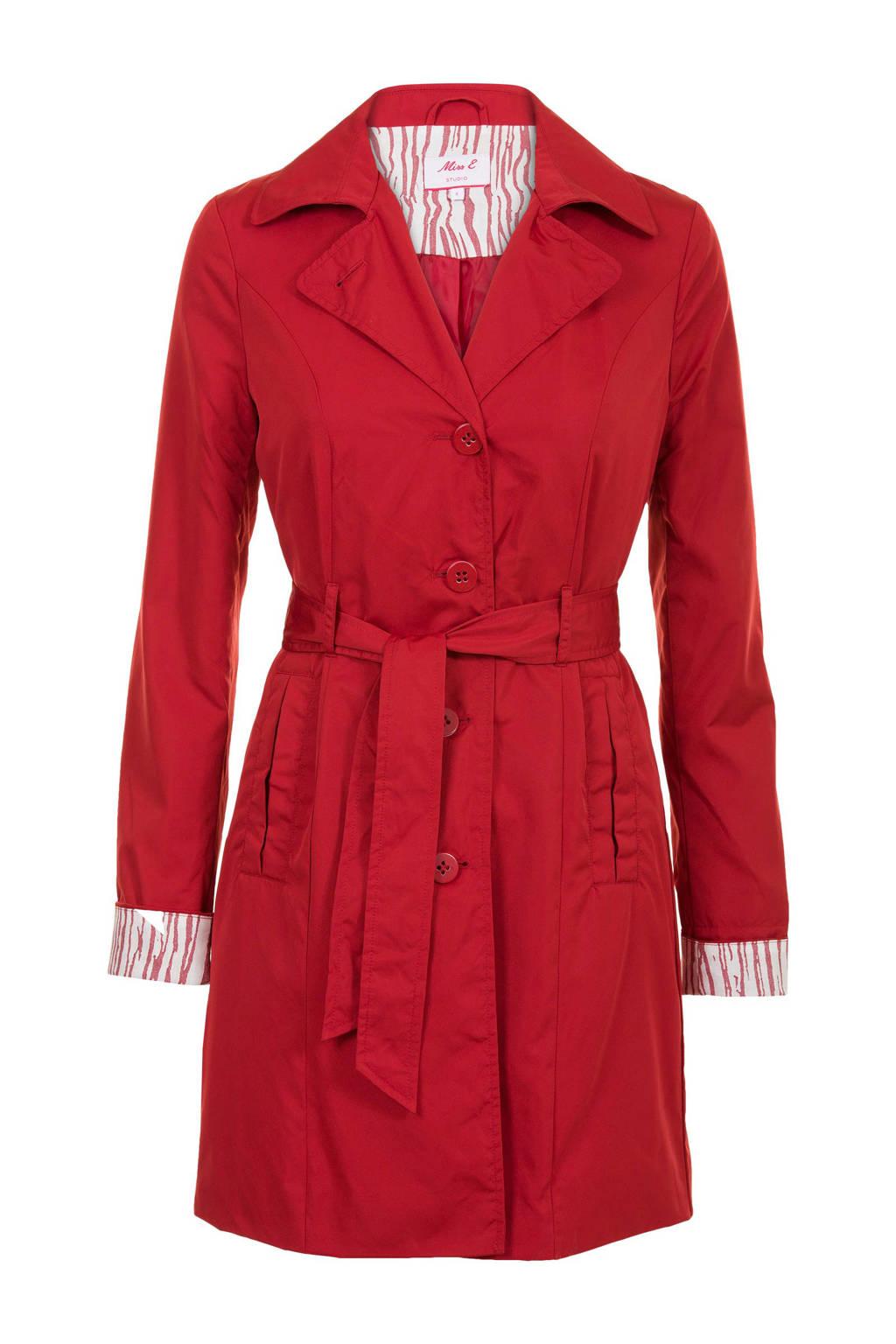 Miss Etam Regulier trenchcoat rood, Rood