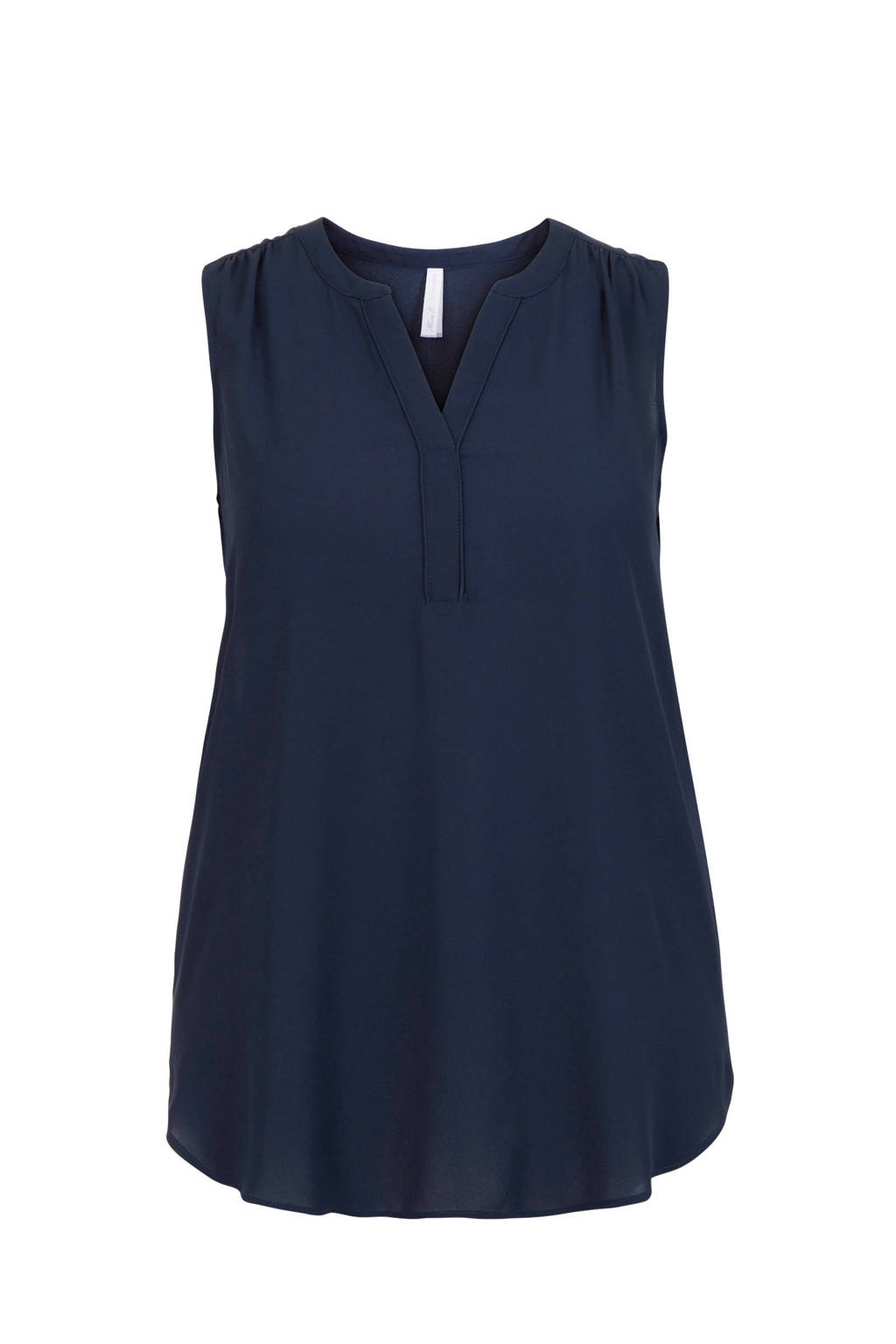 Miss Etam Plus top donkerblauw, Donkerblauw