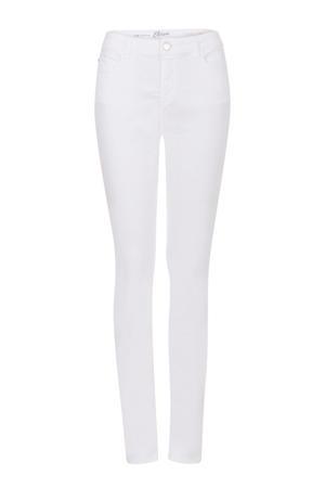 slim fit broek Elise 36 inch wit