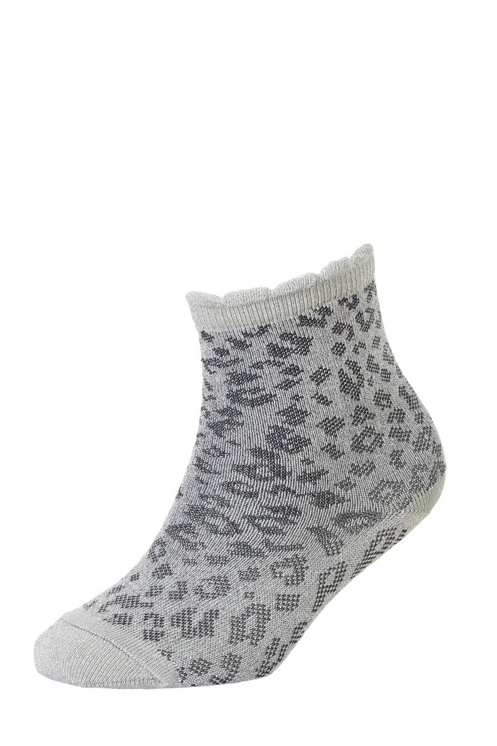 mp Denmark sokken met lurex zilver, Grijs