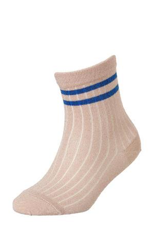 sokken met lurex roze