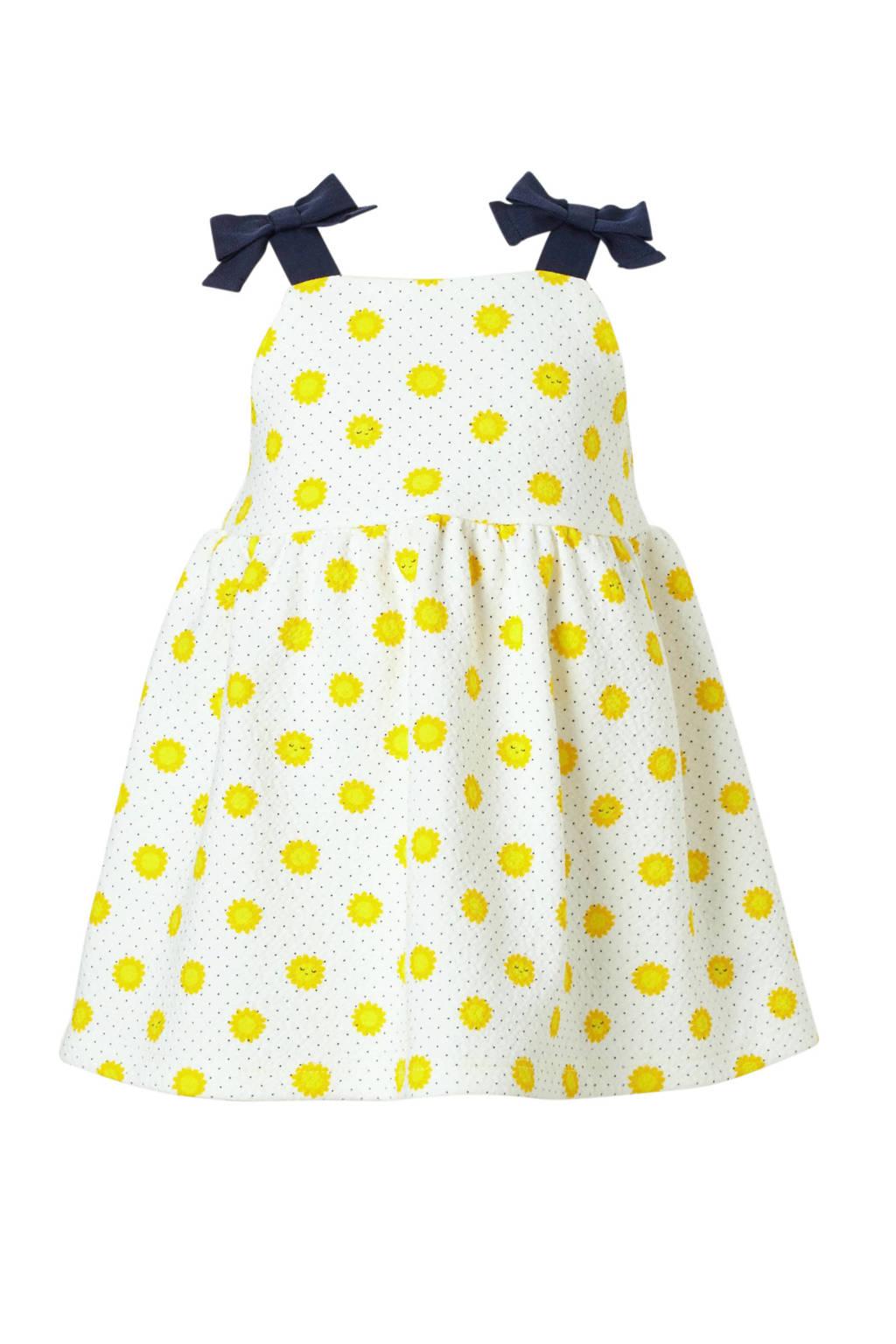 C&A Baby Club jurk met zonnetjes ecru, Ecru/geel