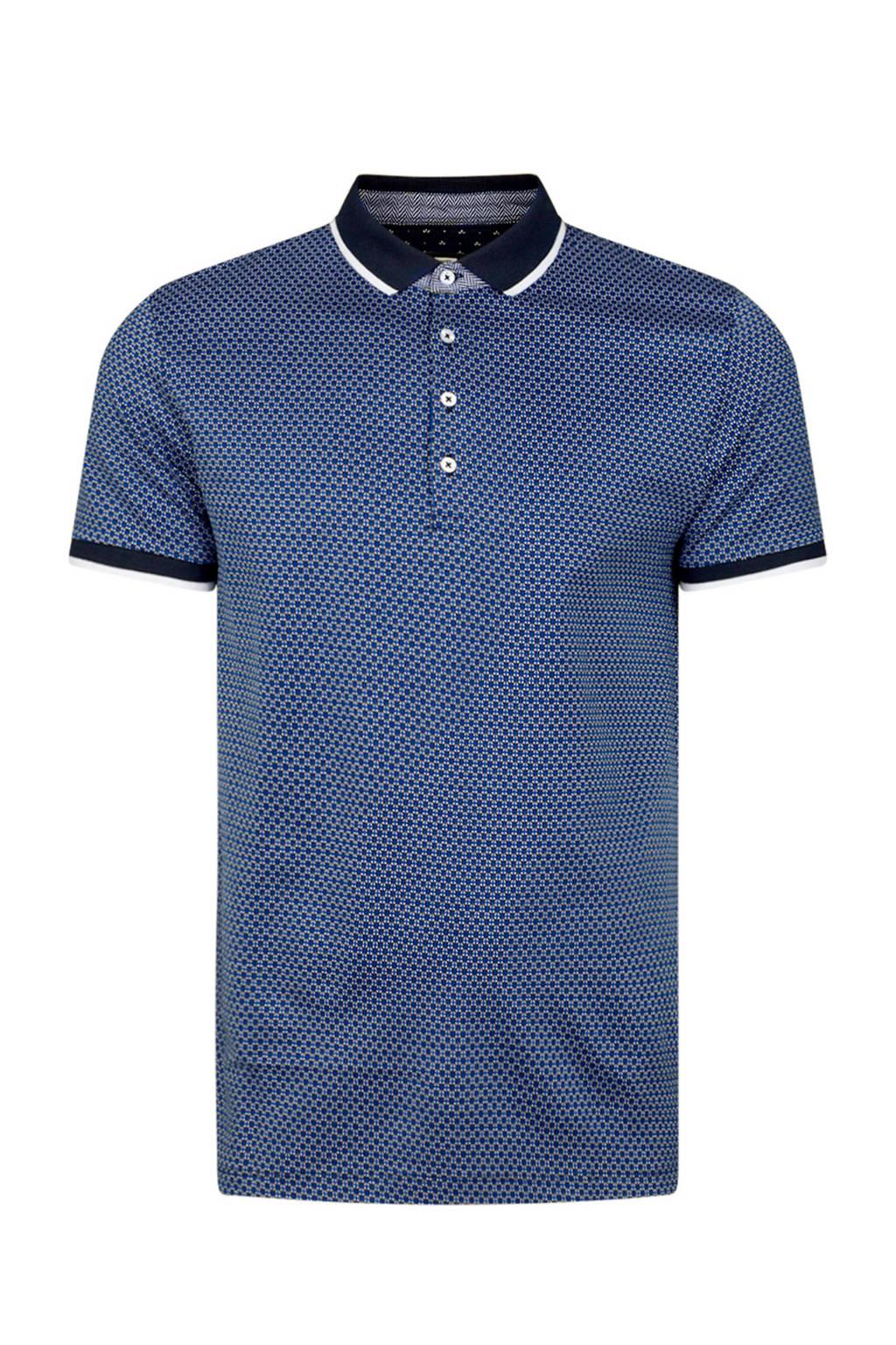 WE Fashion regular fit polo, Donkerblauw