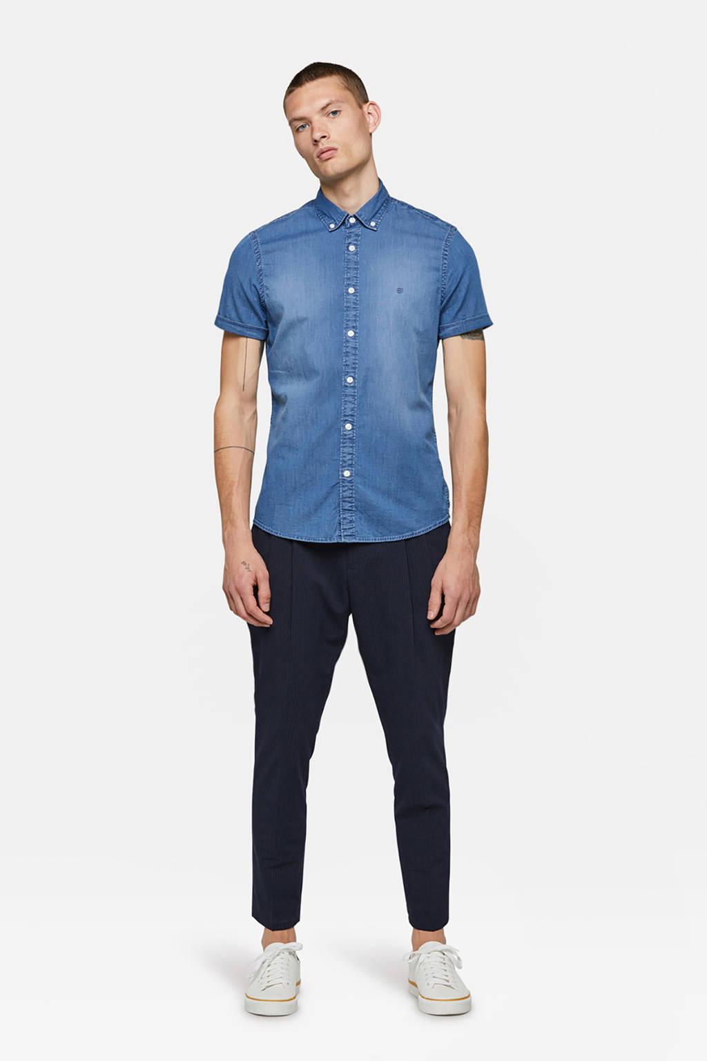 WE Fashion Blue Ridge slim fit overhemd, Blue denim