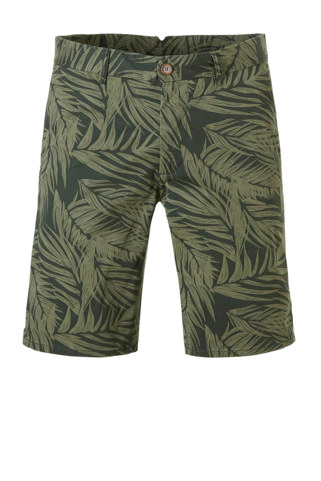 Mango Man regular fit bermuda met print, Groen