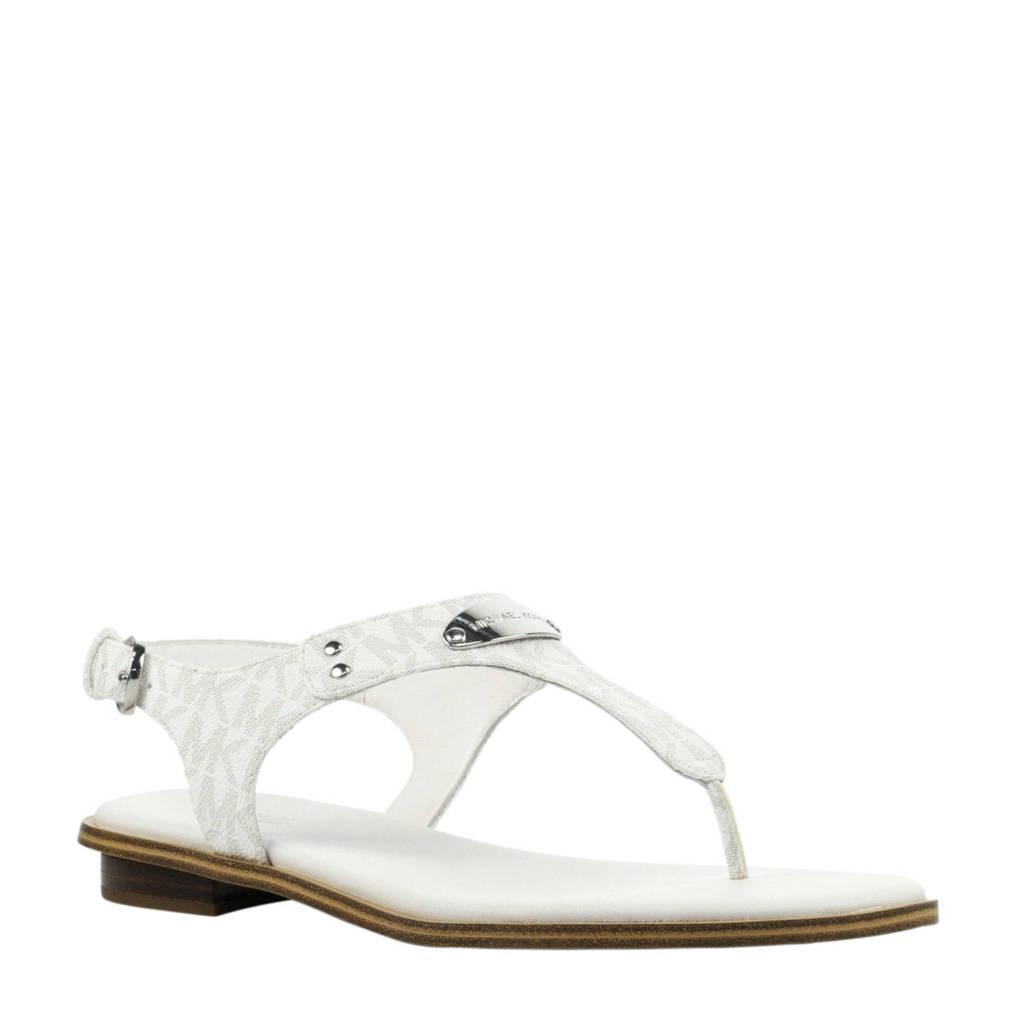 79c4cc14165 Michael Kors MK Plate Thong Logo sandalen wit | wehkamp