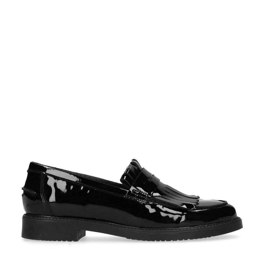 Sacha   lak loafers zwart, Zwart