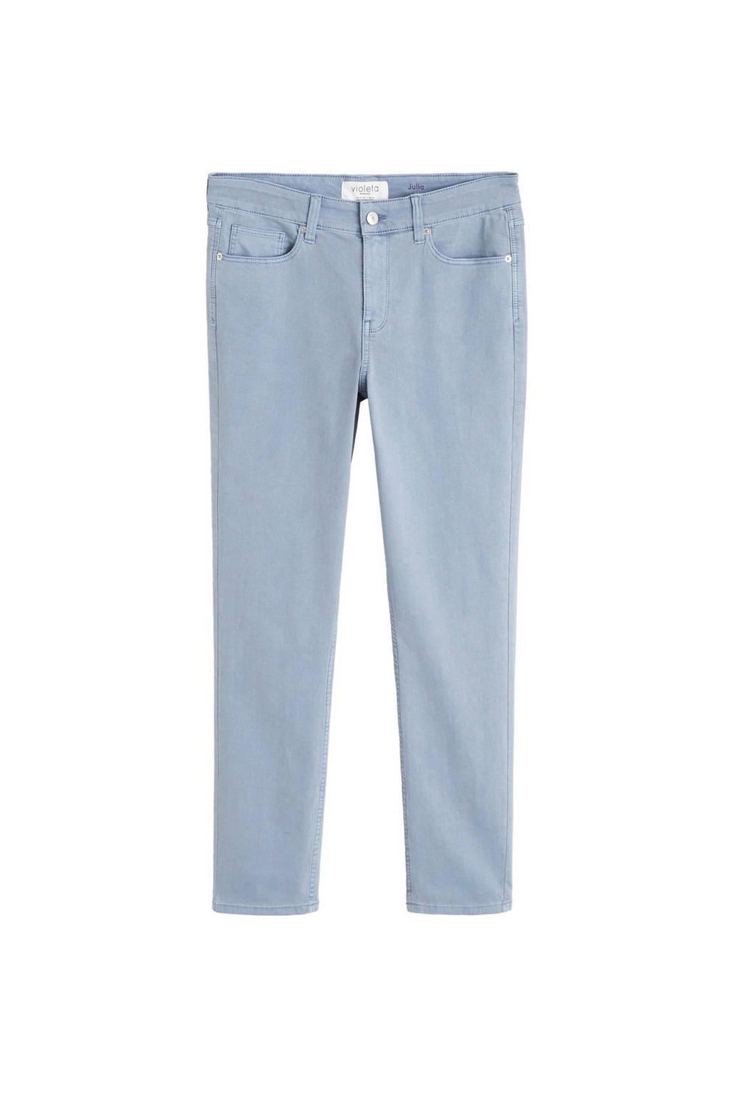 Violeta by Mango slim fit jeans lichtblauw, Lichtblauw