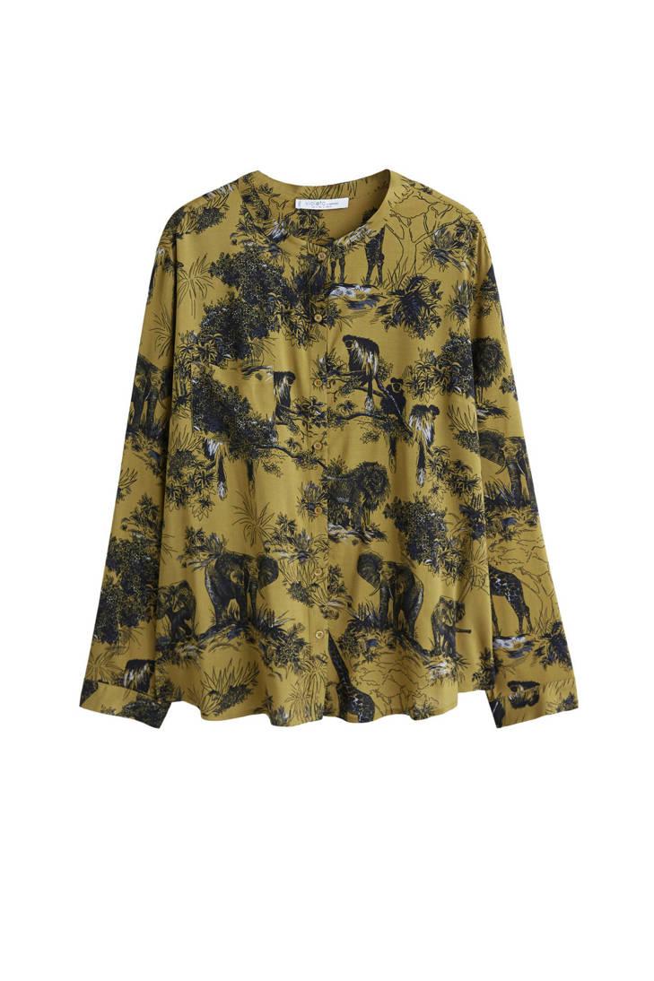 blouse by Violeta dierenprint met Mango SByvAq