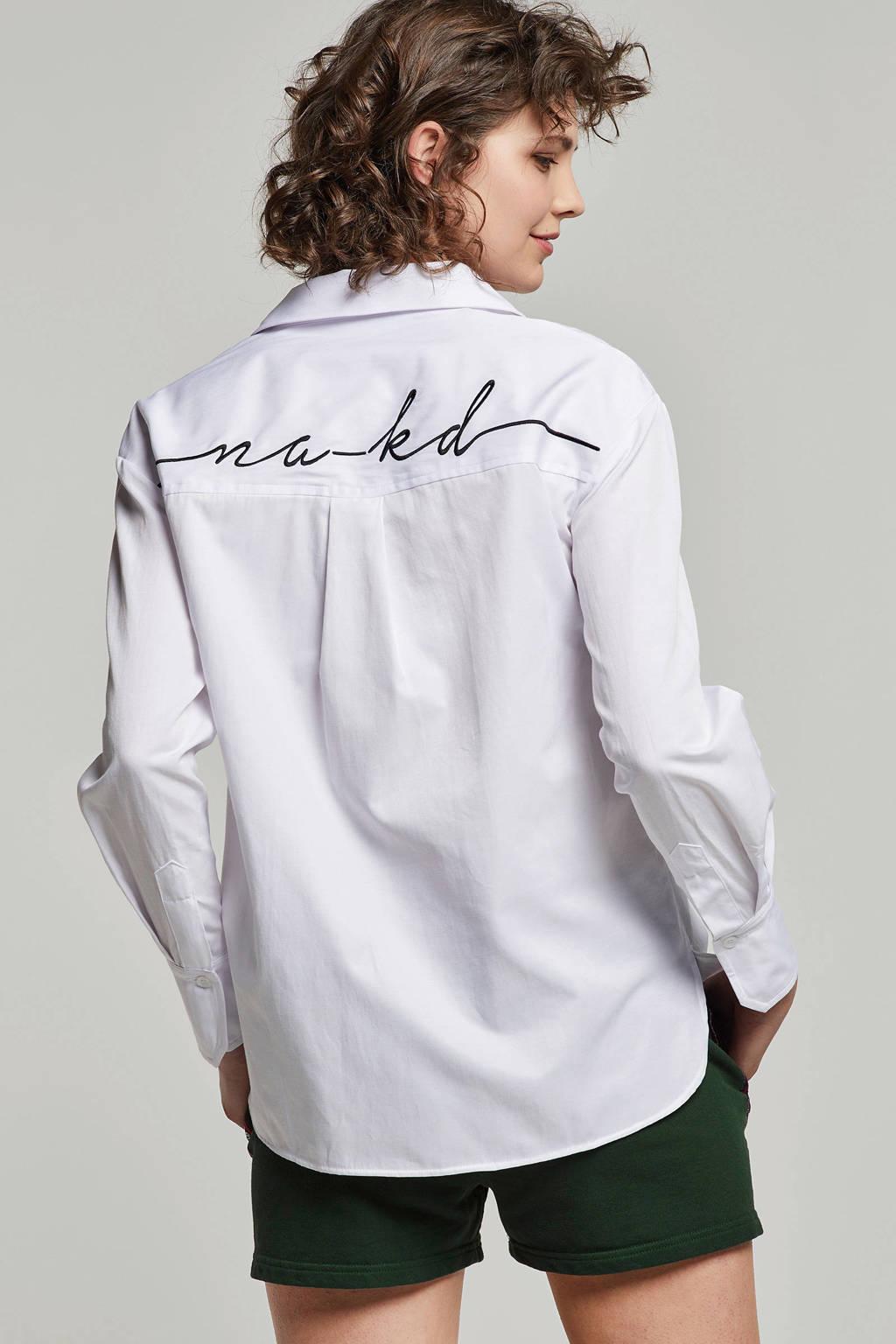 NA-KD blouse wit, Wit