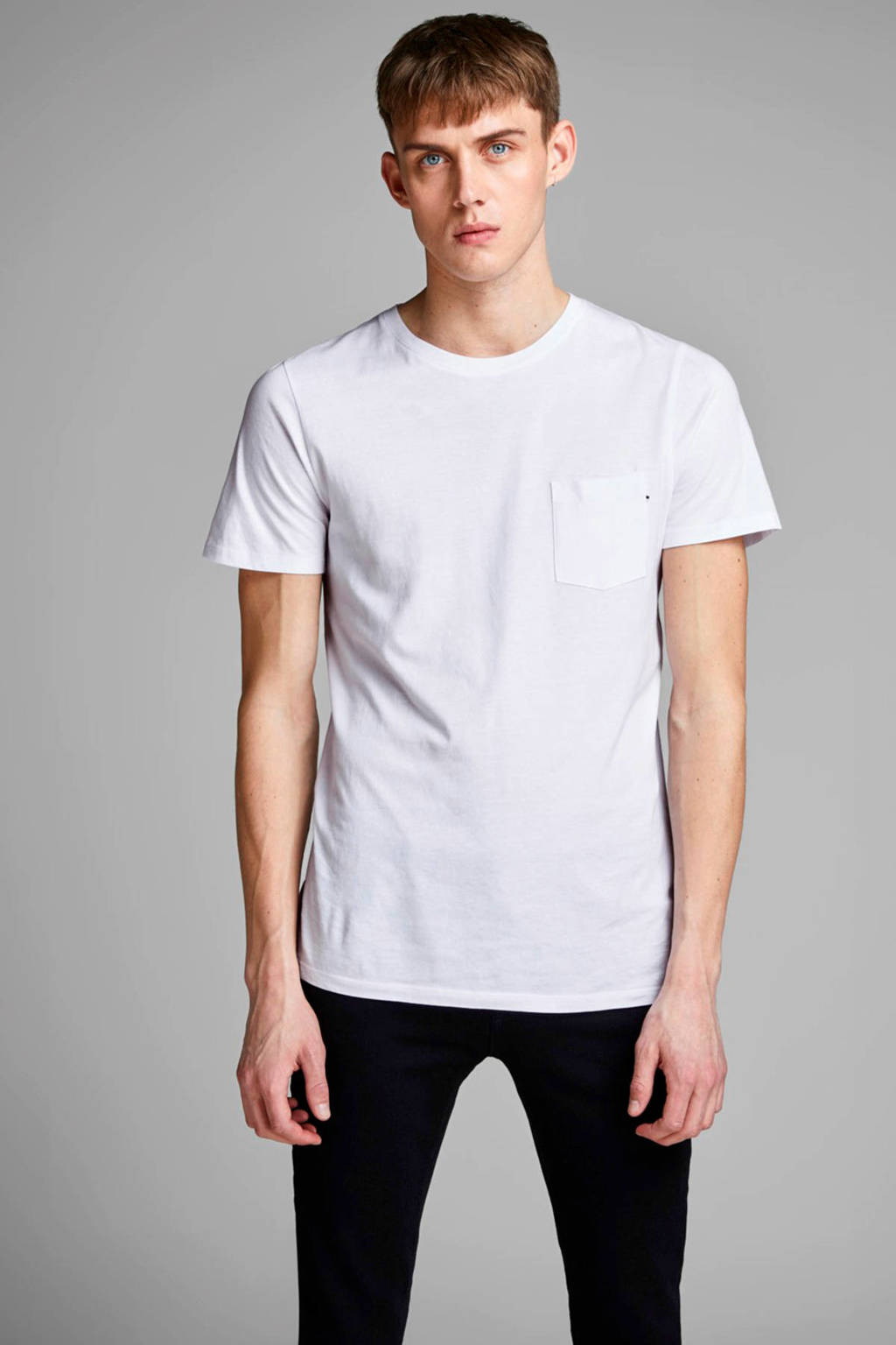 JACK & JONES ESSENTIALS T-shirt Jjepocket wit, Wit