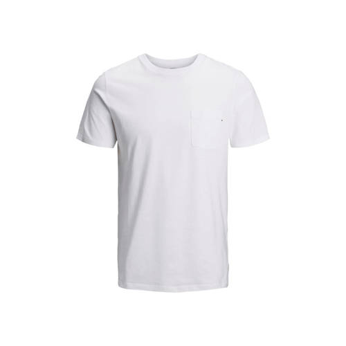 JACK & JONES ESSENTIALS T-shirt Jjepocket wit