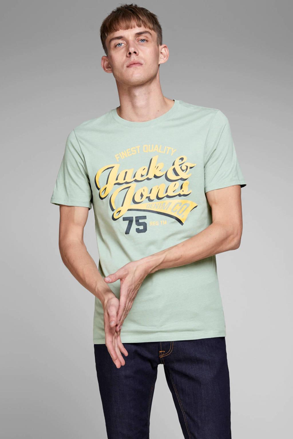 JACK & JONES ESSENTIALS T-shirt met printopdruk lichtgroen, Lichtgroen
