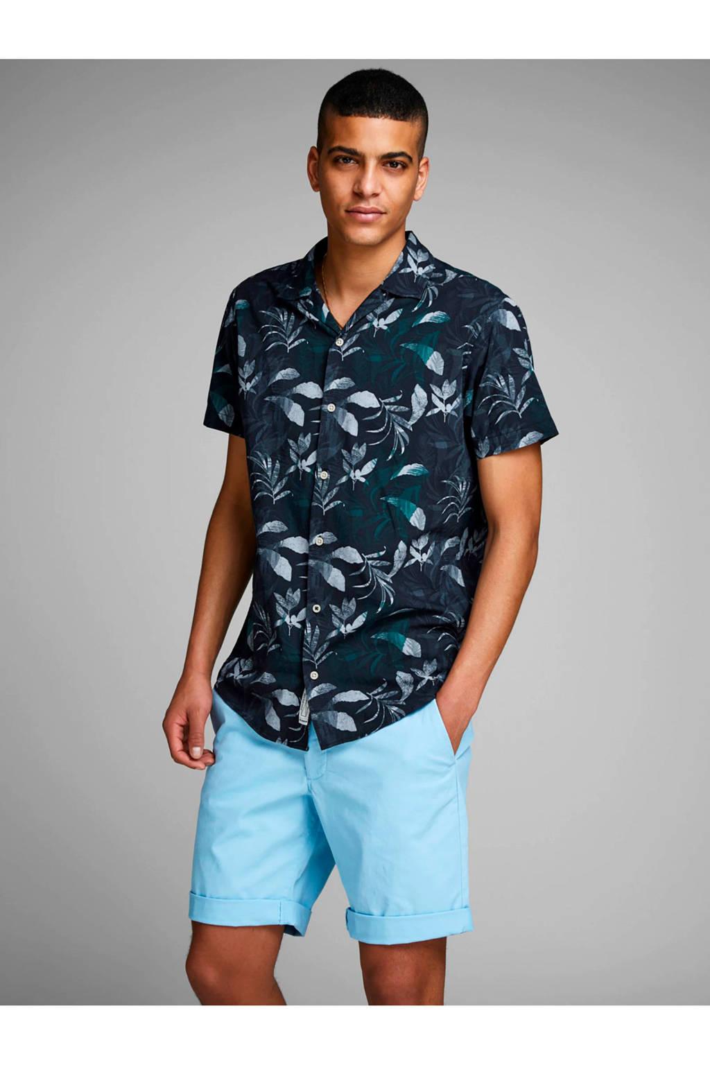 Jack & Jones Premium overhemd met all over print, Donkerblauw