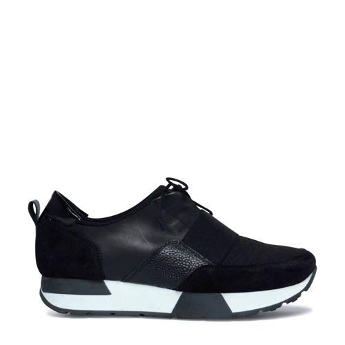 Sacha leren sneakers zwart kopen