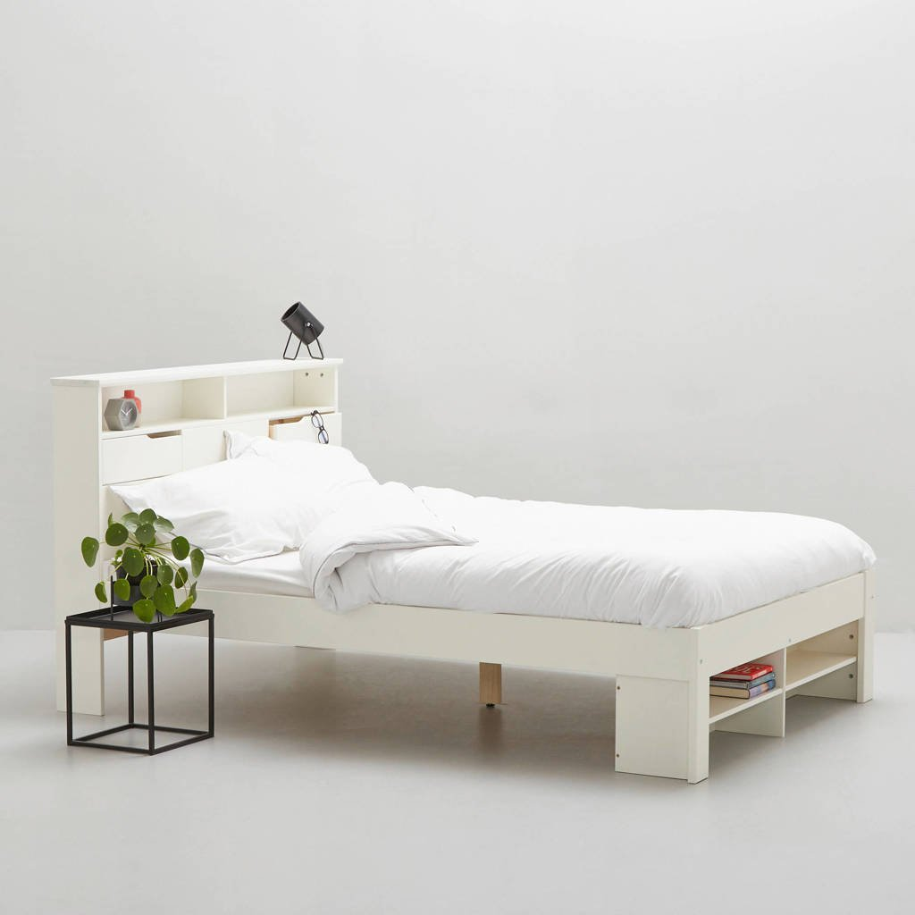 whkmp's own bed Nara  (140x200 cm), Wit