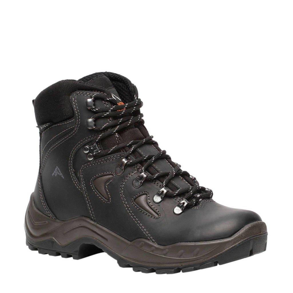 Mountain Peak   leren wandelschoenen zwart, Zwart