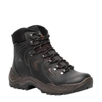 20577e717ba Scapino. Mountain Peak leren wandelschoenen zwart