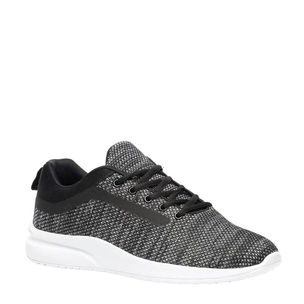 Scapino Osaga   hardloopschoenen grijs, Grijs/zwart/wit