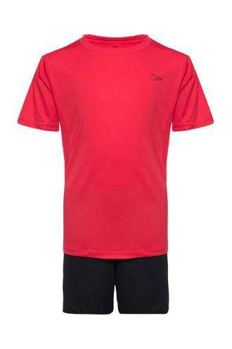 Dutchy   sportset rood/zwart