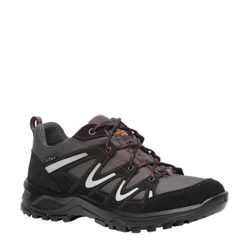 Mountain Peak leren wandelschoenen zwart/grijs kopen